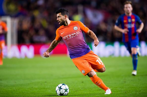 Sergio Aguero estará presente en el duelo de hoy entre el Manchester City y el Barcelona por al Champions League. (Alex Caparros/Getty Images)