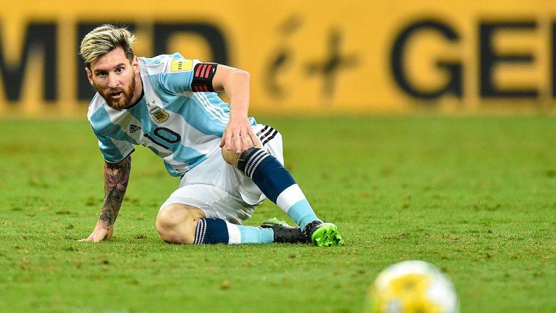 Lionel Messi de Argentina durante el encuentro ante Brasil por las Eliminatorias para el Mundial Rusia 2018. (Pedro Vilela/Getty Images)