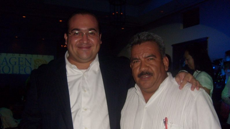 Javier Duarte, gobernador con licencia de Veracruz  (izquierda). Foto: Wikipedia