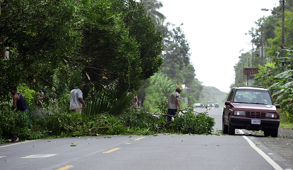 Destrozos del huracán Otto. Foto: EZEQUIEL BECERRA/AFP/Getty Images)