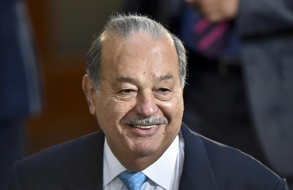 El presidente electo de EU se reunió con el multimillonario mexicano en una de sus lujosas propiedades en Florida. (Foto: YURI CORTEZ/AFP/Getty Images)