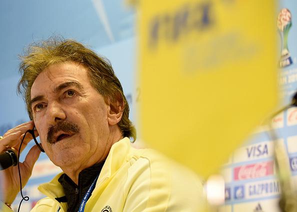 Ricardo La Volpe, DT del América de México, en conferencia de prensa en el Munidal de Clubes que se disputa en Japón.(TORU YAMANAKA/AFP/Getty Images)