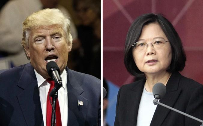 (De izquierda a derecha) El Presidente electo de EE. UU. Donald Trump y la Presidente de Taiwán Tsai Ing-wen. (AP Photo/Evan Vucci, Chinag Ying-ying)