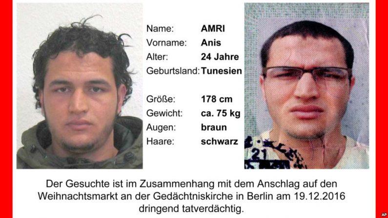 Anis Amri de 24 años es considerado un hombre peligroso y las autoridades alertaron que podría estar armado.