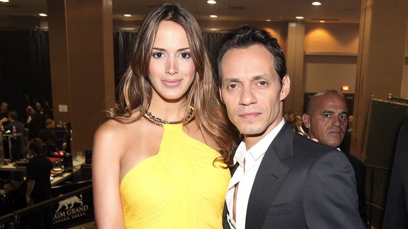 Marc Anthony y Shannon (foto Christopher Polk/Getty Images for ACM)