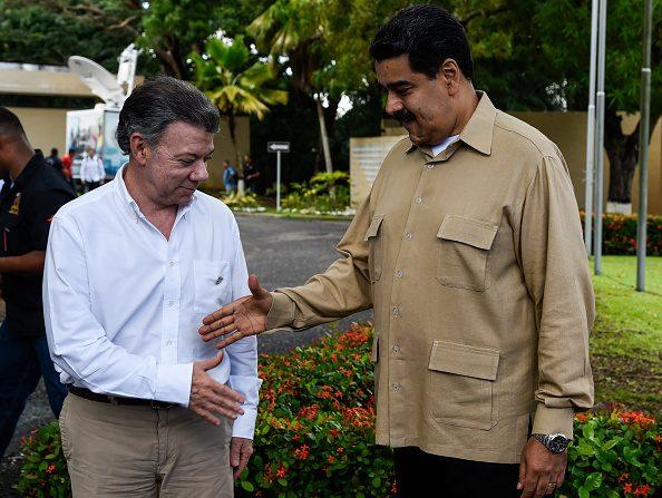 """Venezuela asegura que el anuncio del gobierno colombiano """"quebranta"""" la palabra de Santos de no concretar alianza militar con la OTAN. (Foto: JUAN BARRETO/AFP/Getty Images)"""