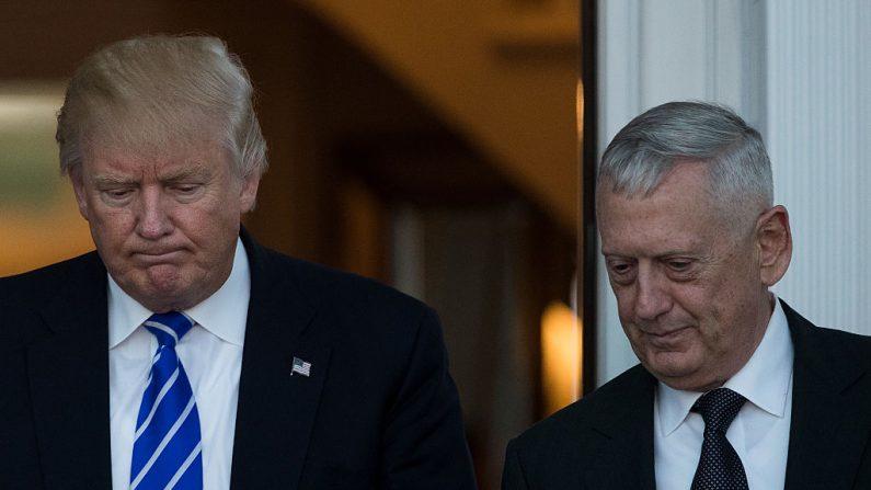 El general James Mattis,  y el presidente Donald Trump. (Foto: Drew Angerer/Getty Images)
