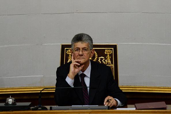 El presidente del Poder Legislativo hasta el 5 de enero, diputado Henry Ramos Allup (Foto: FEDERICO PARRA/AFP/Getty Images)