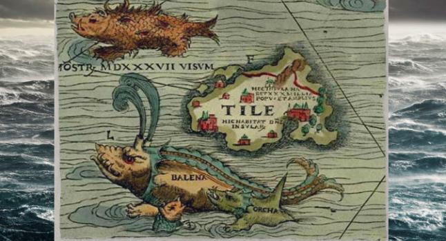 Un trozo de la Carta Marina por Olaus Magnus, 1539. (Wikimedia Commons)