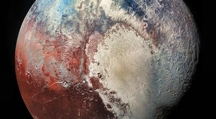 Imagen a color de los distintos componentes de la superficie de Plutón revela un mundo muy activo (Nasa-John-Hopkins-University)