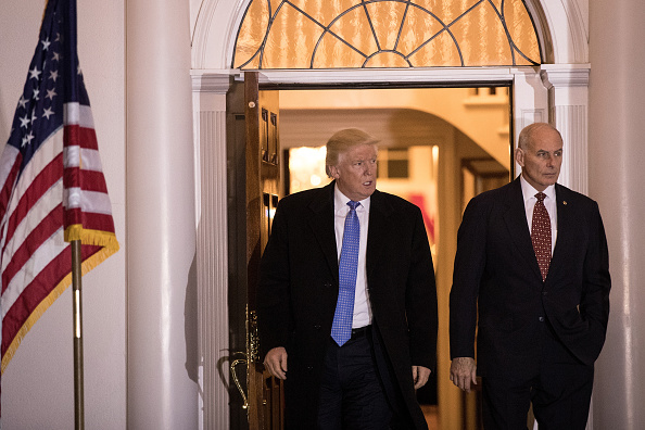 Donald Trump y John Kelly (Photo by Drew Angerer/Getty Images)