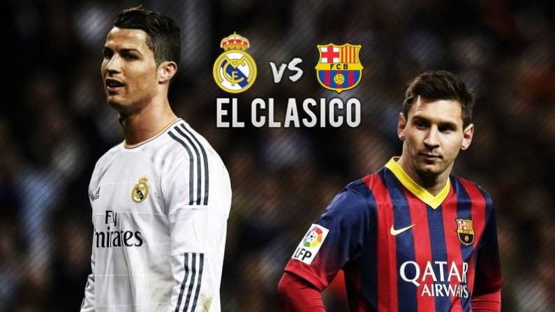 Cristiano Ronaldo del Real Madrid se enfrenta al Barcelona de Lionel Messi en el Campo Nou, el sábado 3 de diciembre de 2016.