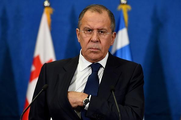 El ministro de Relaciones Exteriores de Rusia, Sergey Lavrov. (ANDREJ ISAKOVIC/AFP/Getty Images)