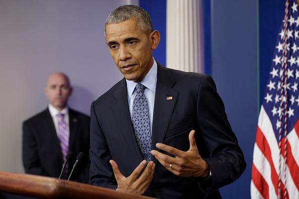 El expresidente estadounidense, Barack Obama durante la última conferencia de prensa bajo su presidencia en la Casa Blanca, el 18 de enero de 2017, Washington, DC. (Chip Somodevilla / Getty Images)