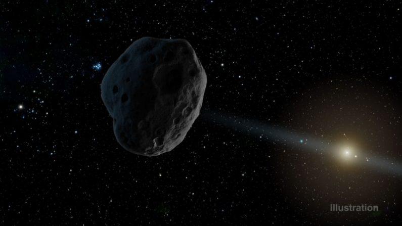 Ilustración de una asteroide. (NASA)