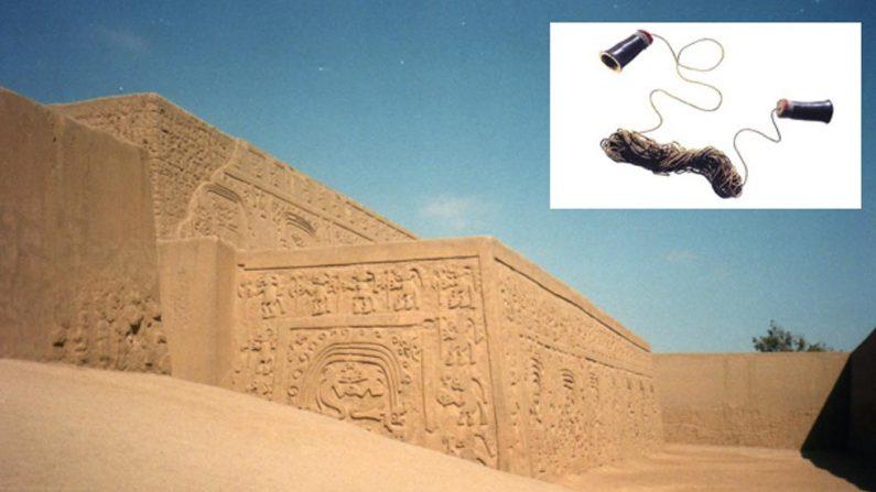 La ciudad de Chan Chan, en Perú (Wikimedia Commons). Detalle: El enigmático y antiguo aparato de comunicación Chimú.