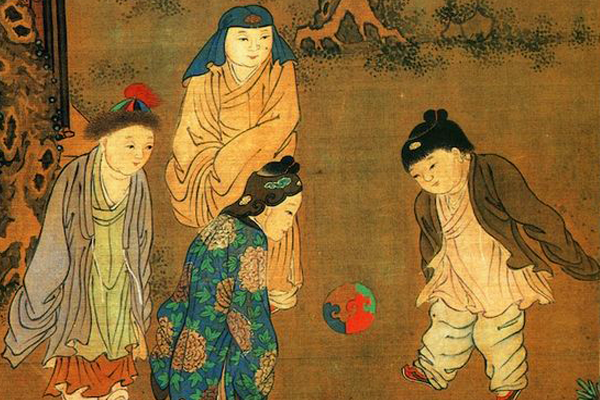 """""""Cientos de niños en la gran primavera"""", pintura del artísta chino Su Hanchen de la Dinastía Song"""