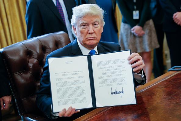 El presidente estadounidense Donald Trump. (Foto: Pool/Getty Images)