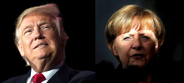 Donald Trump / Ángela Merkel JIM WATSON,RONNY HARTMANN/AFP/Getty Images)