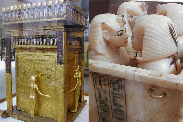 Templete con vasos canopos de Tutankamón