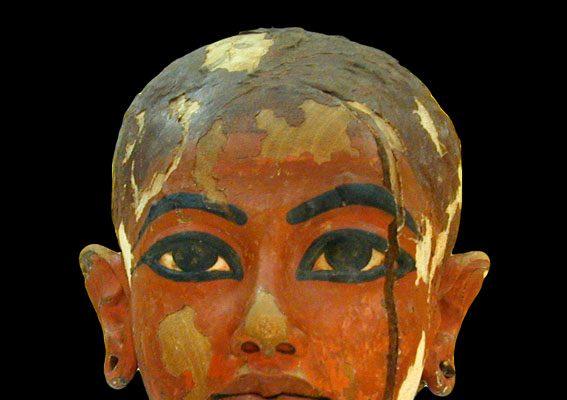talla del rey Tutankamón