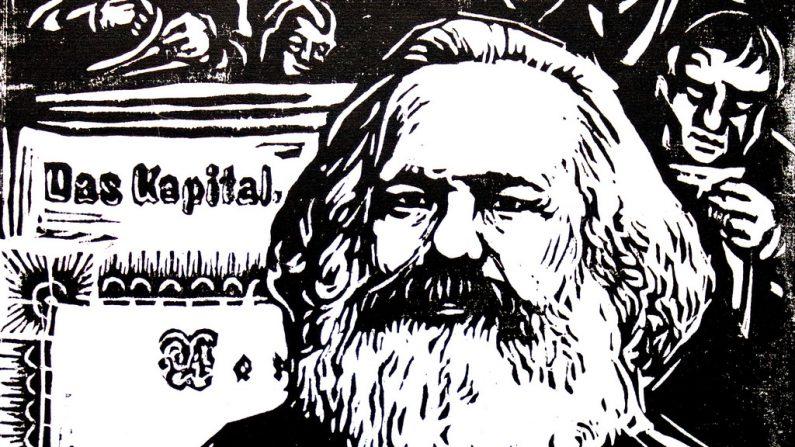 Karl Marx por Robert Diedrichs, 1970. (WikiCommons )