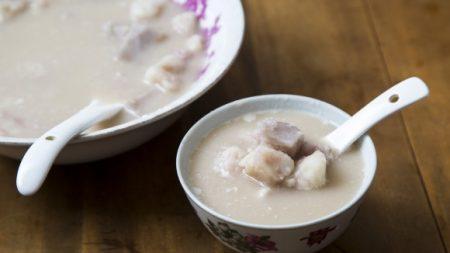 Receta china de sopa dulce de ñame