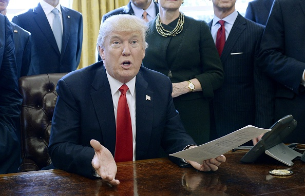 El presidente estadounidense, Donald Trump. (Olivier Douliery - Pool / Getty Images)