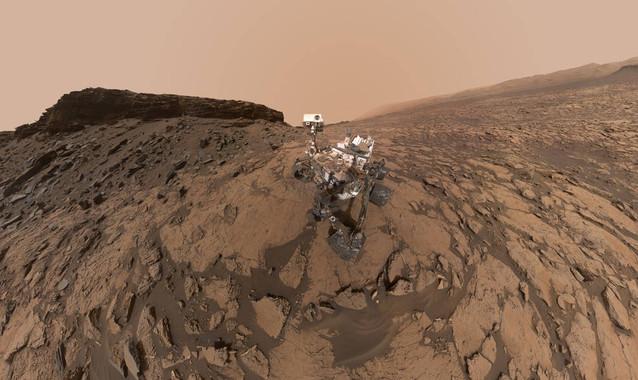 Autoretrato del rover Curiosity operando en el suelo marciano. / NASA/JPL-Caltech/MSSS