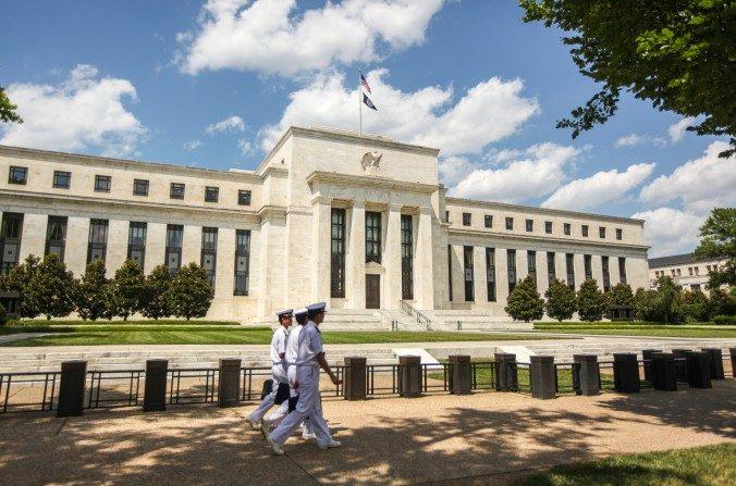 El Edificio del Consejo de la Reserva Federal Marriner S. Eccles en Washington el 14 de julio de 2016. (Benjamin Chasteen/La Gran Época)
