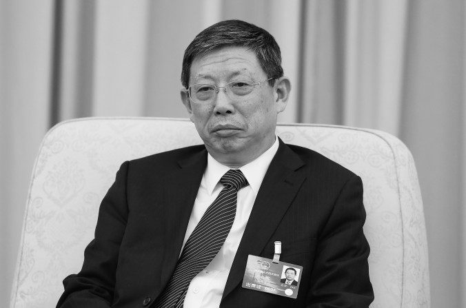 El ex alcalde de Shanghai, Yang Xiong en el Gran Salón del Pueblo en Beijing el 6 de marzo de 2016. Yang renunció a su puesto el 17 de enero. (Lintao Zhang / Getty Images)