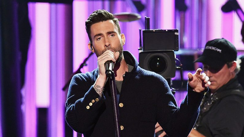 Adam Levine de Maroon Five recibió su estrella en el Paseo de la Fama (Foto Kevin Winter/Getty Images)