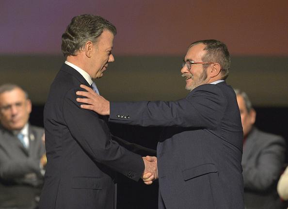El mandatario colombiano, que firmó a finales del año pasado un acuerdo de paz con las Fuerzas Armadas Revolucionarias de Colombia (FARC). (Foto: LUIS ROBAYO/AFP/Getty Images)