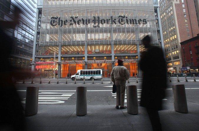 Oficinas centrales del New York Times en Nueva York el 7 de diciembre de 2009. (Mario Tama/Getty Images)