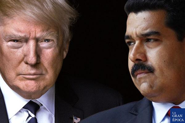 Izquierda: Donald Trump, presidente de EEUU. Derecha: Nicolás Maduro, presidente de Venezuela