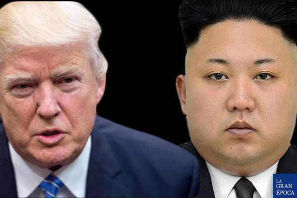 El presidente de Estados Unidos, Donald Trump, y el mandatario de Corea del Norte, Kim Jong-un. (La Gran Época)