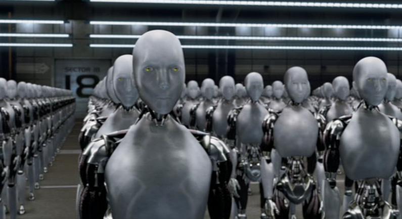"Imagen del film, ""Yo, robot"". (Wikimedia)"
