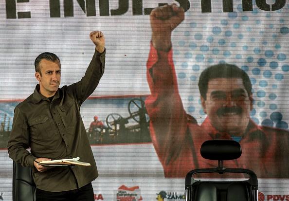 Tareck El Aissami, vicepresidente de Venezuela sancionado por Estados Unidos. Foto: JUAN BARRETO/AFP/Getty Images
