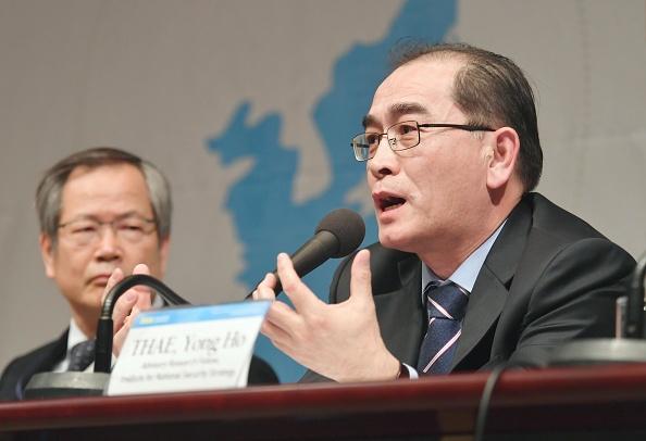 Thae Yong Ho desertó del régimen comunista de Corea del Norte y huyó hacia Seúl. Era un diplomático de alto rango en Gran Bretaña. Foto: Kyodo News via Getty Images