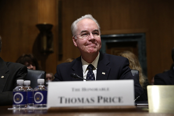 El Dr Thomas Price, propuesto por el presidente Trump,  es elegido como Secretario de Salud tras un largo debate. Foto: McNamee/Getty Images