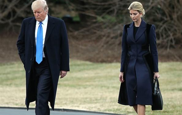 El presidente Donald Trump junto a su hija Ivanka. Foto: Mark Wilson/Getty Images