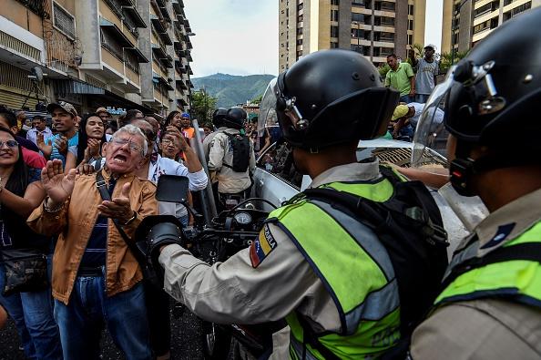 Protestas por crisis social, política y económica en Venezuela. Foto: JUAN BARRETO/AFP/Getty Images