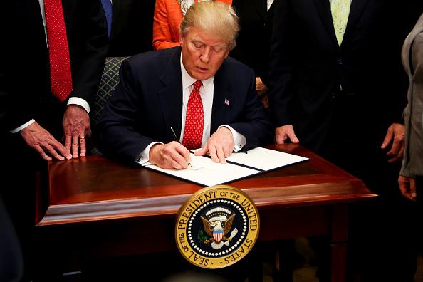 El presidente de Estados Unidos, Donald Trump, donará su sueldo anual. (Aude Guerrucci-Pool/Getty Images)