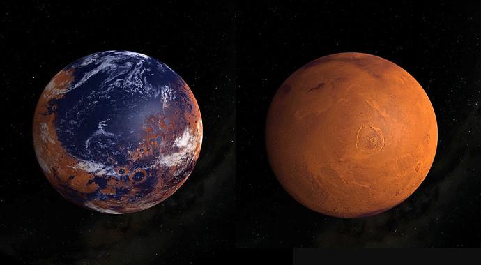 Los nuevos resultados de la misión MARVEN revelan que la pérdida sustancial de su atmósfera es lo que cambió drásticamente el clima de Marte. / The Lunar and Planetary Institute NASA - MAVEN mission.