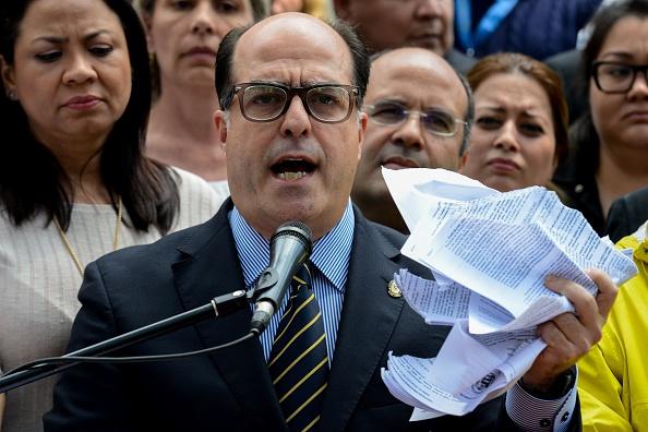 El presidente de la Asamblea Nacional de Venezuela, Julio Borges.  (Foto: FEDERICO PARRA/AFP/Getty Images)
