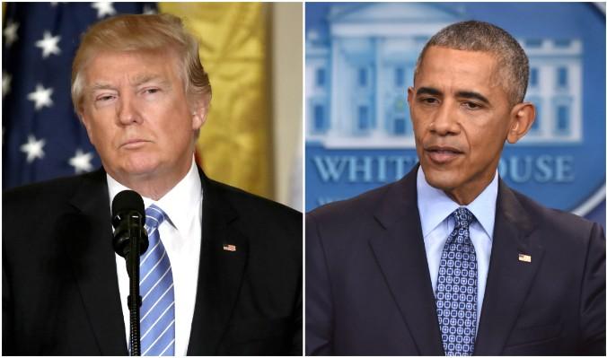 El presidente Donald Trump y el ex presidente Barack Obama. (Win McNamee / Imágenes Getty, NICHOLAS KAMM / AFP / Imágenes Getty)