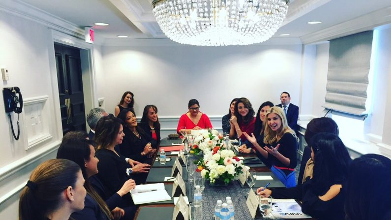 Ivanka Trump reunida en Washington con mujeres empresarias latinas. Foto: USHCC.
