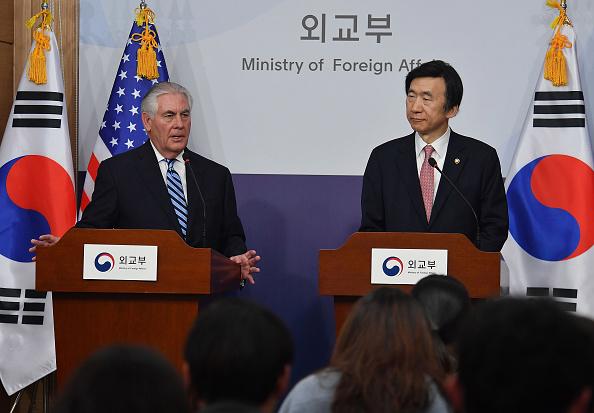 Tillerson en su visita a Corea del Sur el 17 de marzo de 2017. (Foto: Song Kyung-Seok-Pool/Getty Images)