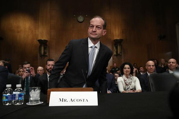 Acosta, nacido en Miami, tiene una amplia experiencia en leyes laborales y destaca su trabajo en juicios de alto perfil cuando se desempeñó como fiscal de distrito del sur de Florida. (Foto: Win McNamee/Getty Images)