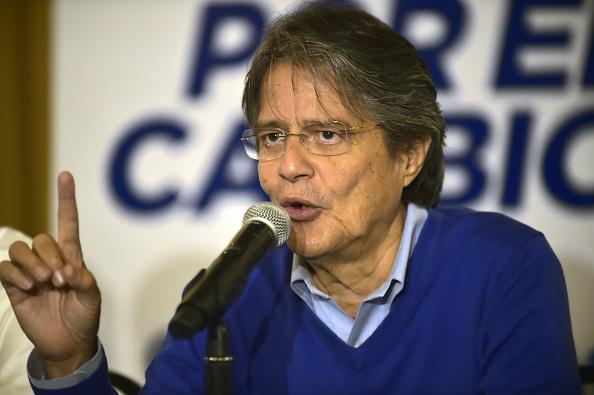 El excandidato presidencial del movimiento CREO- SUMA denunció irregularidades en 1.795 actas de diferentes provincias que significan casi 600.000 votos. (Foto: RODRIGO BUENDIA/AFP/Getty Images)